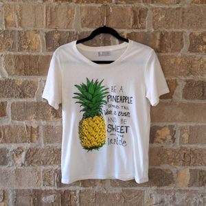Fuego Be A Pineapple Positive Affirmation T-shirt